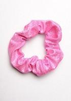 Élastique à cheveux effet mouillé rose HS414