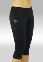 Collant gymnastique 3/4 velours lisse noir K754zw