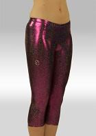 Collant 3/4 long en Wetlook brillant Violet Noir W754454